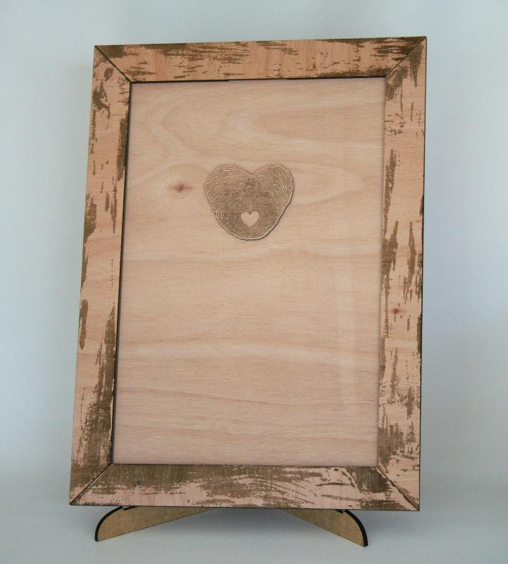 Guest Book Drop Frame Light Wood